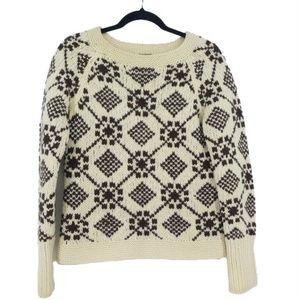 AE Hand Knit Chunky Lambs Wool Sweater  (D18)